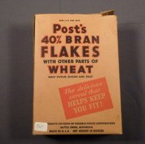 Image of Post bran flakes box, front view