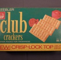Image of Keebler club crackers box, top view