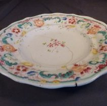 Image of Flowered plate