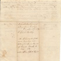 Image of Land deed, recorded Feb. 11, 1836