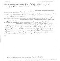 Image of Deed, March 21, 1854