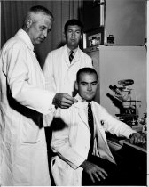 Image of William Hunt with two other doctors