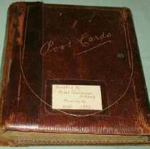 Image of Postcard - Antique post card album with 79 cards
