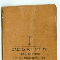 Image of Booklet - Ordinance No. 386