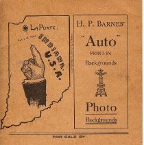 Image of Booklet - H.P. Barnes Auto Print-In