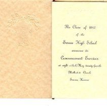 Image of Class of 1912 SHS Commencemt