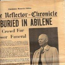 Image of Ike Buried newspaper