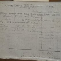 Image of Receipt - tax receipt on land purchased by Frederick Shumaker in 1861