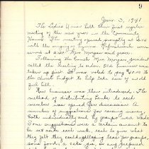 Image of Documents - Ladies Union Minutes 1941-1946