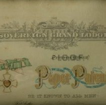 Image of Sovereign Grand Lodge - Patent