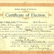 Image of Documents - Certificate of Election