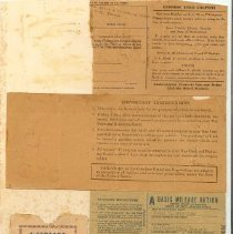 Image of Gasoline Ration book and stamp