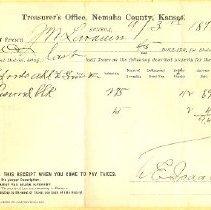 Image of 1898 Treasurer's Office, NC