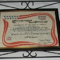 Image of Bicenntenial Certificate
