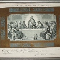 Image of First Communion Certificate: