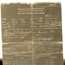 Image of Birth Certificate