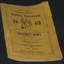 Image of Booklet - Leaflet: 1963 bowling Tournament, State at Lawrence, Kansas