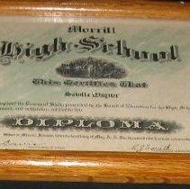 Image of Diploma - Diploma: Savilla Wagner, Morrill High School