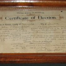 Image of Certificate of Election