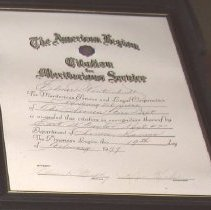 Image of The American Legion Citation f