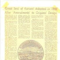Image of Great Seal of Kansas Adpt 1861