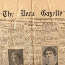Image of Newspaper - Clipping from Kansas historical mirror on Joan J. Ingalls