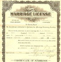 Image of Wilcox Marrage License