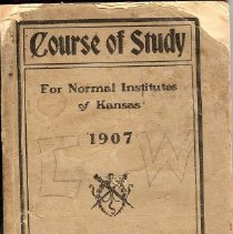 Image of Book - Course of Study, for Normal Institutes of Kansas