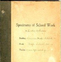 Image of Specimens of School work