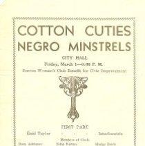 Image of Cotton Cuties Negro Minstrels