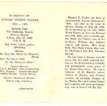 Image of Edward Taylor Memorial Card