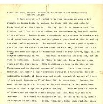 Image of Ingalls, Ray, Speech to B. P.