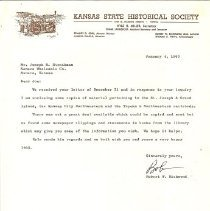 Image of Ingalls, Ray, Letter from J St