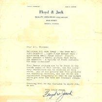 Image of Ingalls Floyd & Jack Letter