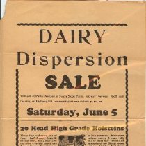 Image of Handbill from Ray Ingalls Sale
