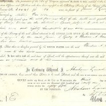 Image of Documents - Patent for service in War 1812