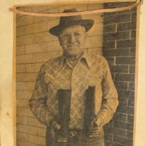 Image of Newspaper - 1 newspaper clipping of John Beyreis and boots