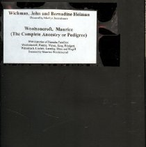 Image of Manuscript - The Complete Ancestry or Pedigree of Woolsoncroft,
