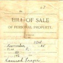 Image of Bill of Sale; Eureka ME church