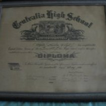 Image of Documents - Centralia High School diploma