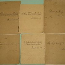 Image of Manuscript - Collection of Sermons from 1870