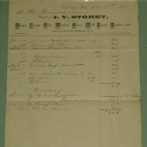 Image of J.V. Storey Receipt
