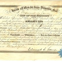 Image of Certificate, achievement - certificate naming G.W. Jermane and elder in the church