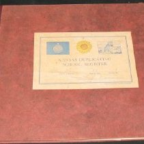 Image of Book - Kansas Duplicating School Register