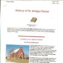 Image of St. Beridget Parish history