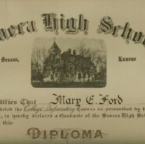 Image of Mary Ford's SHS diplomia  1919
