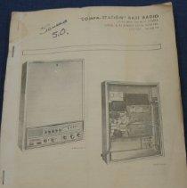Image of Booklet - Compa-Station Base Radio Manual, 1976 Motorola