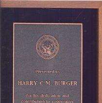 Image of Harry Burger KSU Plaque