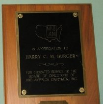 Image of Dairymen Plaque