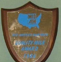Image of 1986 Dairymen Plaque